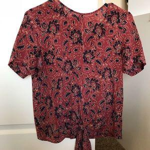 Madewell silk blouse